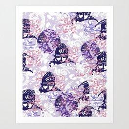 Qajar Faces Art Print
