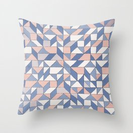 Shifting geometric pattern Throw Pillow