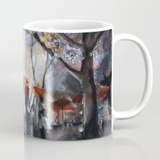 Watercolor painting - Autumn rain - Mug