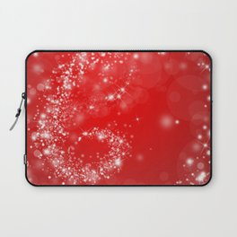 Elegant red white abstract Christmas pattern Laptop Sleeve