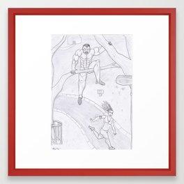 A Vampire attacks Framed Art Print