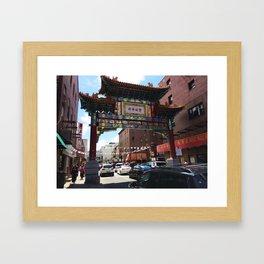 Philadelphia Chinatown Arch Framed Art Print