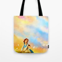 alicexz Tote Bags featuring This Provincial Life by Alice X. Zhang