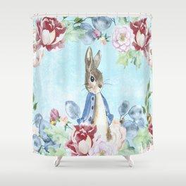 Hoppy The Bunny Shower Curtain