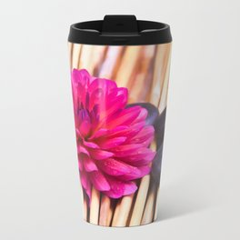 Zen Stones And Dahlia Travel Mug