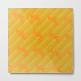 Summer neon pattern Metal Print