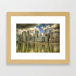 Singapore Marina Bay Sands Art Framed Art Print