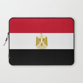 flag of egypt- Egyptian,nile,pyramid,pharaon,cleopatra,moses,cairo,alexandria. Laptop Sleeve
