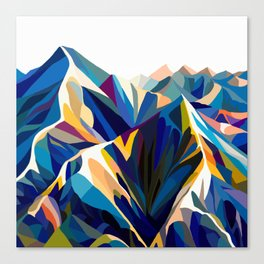 Mountains cold Canvas Print