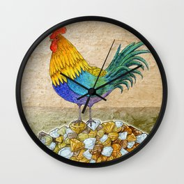 The Cockerel and The Jewel Wall Clock