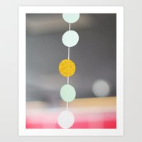 Gold and Dot  Art Print