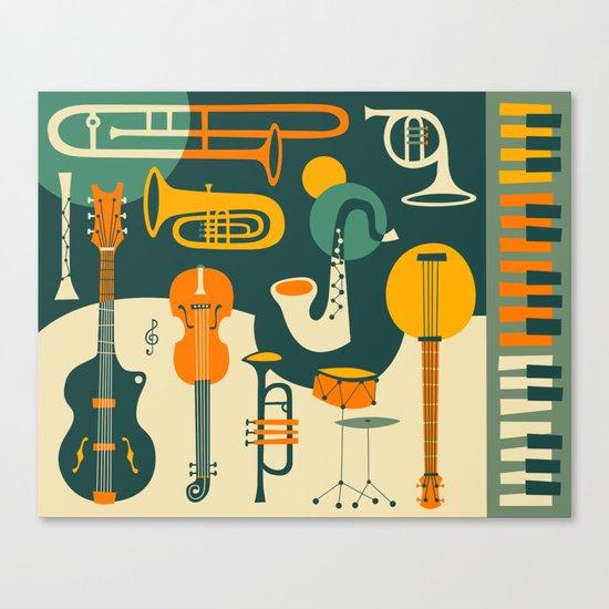 JUST JAZZ Canvas Print