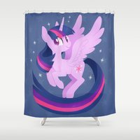 twilight Shower Curtains featuring twilight by tsurime