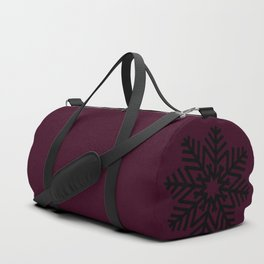 Mulled Berry Wine Snow Flake and Trees Duffle Bag