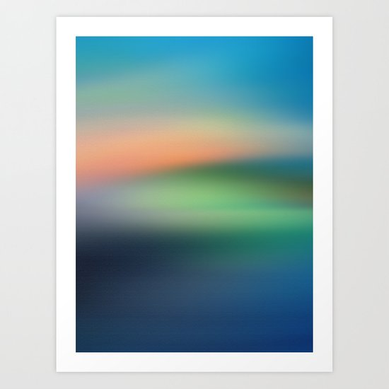 Abstract Seascape Art Print