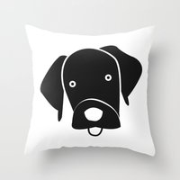 labrador Throw Pillows featuring Labrador by anabelledubois
