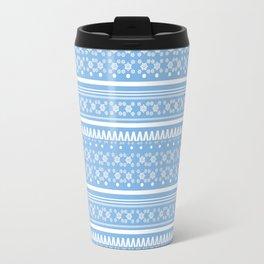 Christmas Jumper Blue Travel Mug