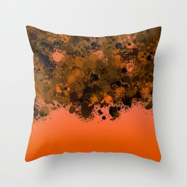 paint splatter on gradient pattern or Throw Pillow