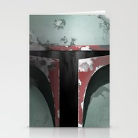 boba Stationery Cards featuring boba fett by designoMatt