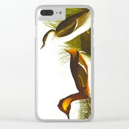 Eared Grebe Bird Clear iPhone Case