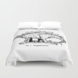 Figure One: Stegosaurus Duvet Cover