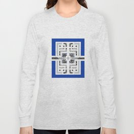 Labyrinth - Different Ways in Blue Long Sleeve T-shirt