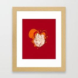 The breastfeeding Framed Art Print