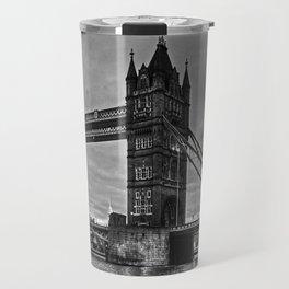 Tower bridge in black and white. Travel Mug
