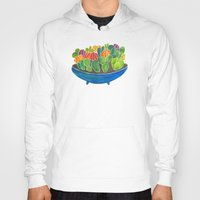 succulents Hoodies featuring Succulents by Cat Coquillette