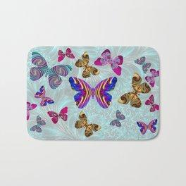 Fractal Butterfly Paradise Bath Mat
