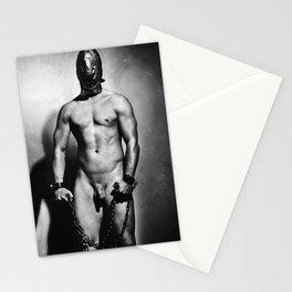 Nude cuffed Slave Boy Stationery Cards