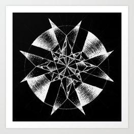 Inverted Crystalline Compass Art Print