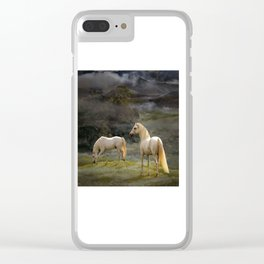 Stallions of the Gods Clear iPhone Case