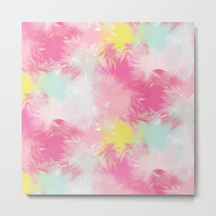Blurred Blend - Pink Metal Print