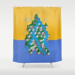 Ecubesystem Shower Curtain