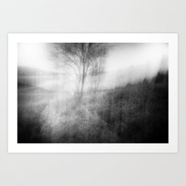 when I met you by the river Art Print