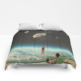 Summer with a Chance of Asteroids Comforters