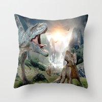 dinosaur Throw Pillows featuring Dinosaur by giftstore2u