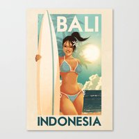 indonesia Canvas Prints featuring Indonesia - Bali by Rui Ricardo