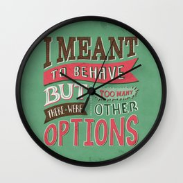 Too Many Options Wall Clock