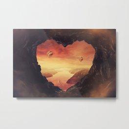 heart shaped cave Metal Print