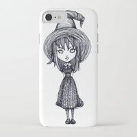 witch iPhone & iPod Cases featuring Witch by Margret Stewart