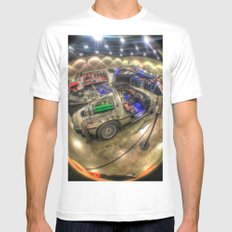 Lets Go Back to the Future! Mens Fitted Tee White MEDIUM