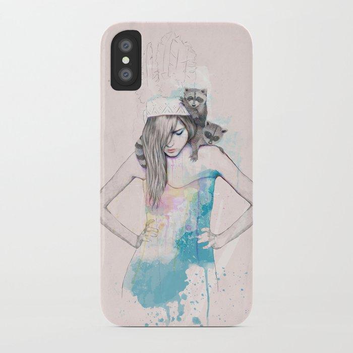 Raccoon Love iPhone Case