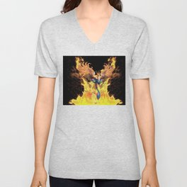 Flames of Life Unisex V-Neck