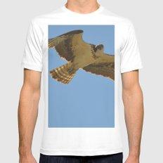 Osprey in Flight MEDIUM White Mens Fitted Tee