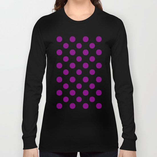 Polka Dots (Purple/White) Long Sleeve T-shirt