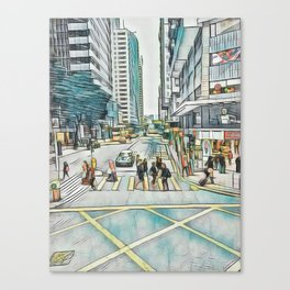 Textured Wan Chai Canvas Print