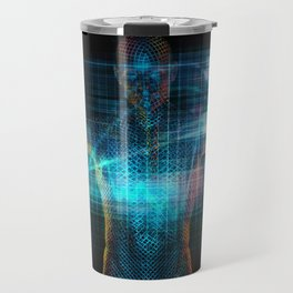 Futuristic Healthcare in the Future with Medical Doctor Travel Mug