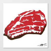 meat Canvas Prints featuring meat by Takeru Amano